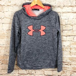 Under Armour Hoodie big logo navy coral cold gear